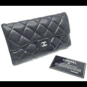 Chanel Tri-fold Black wallet